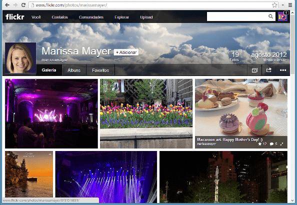 Imagem do novo perfil do Flickr