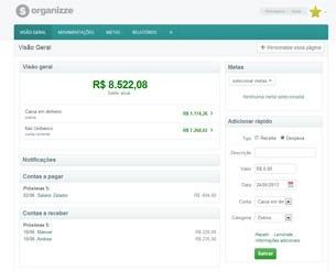 Organizze para gestão financeira