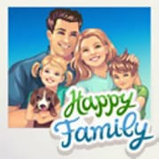 logotipo do aplicativo happy family para facebook