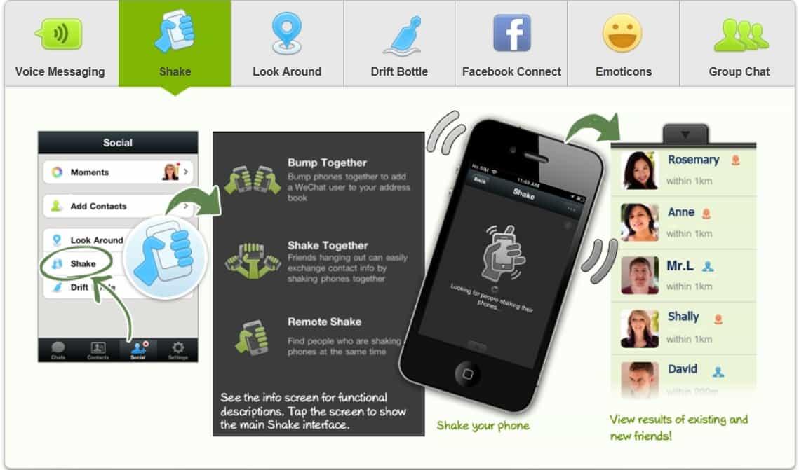 mais sobre o aplicativo wechat para android e ios