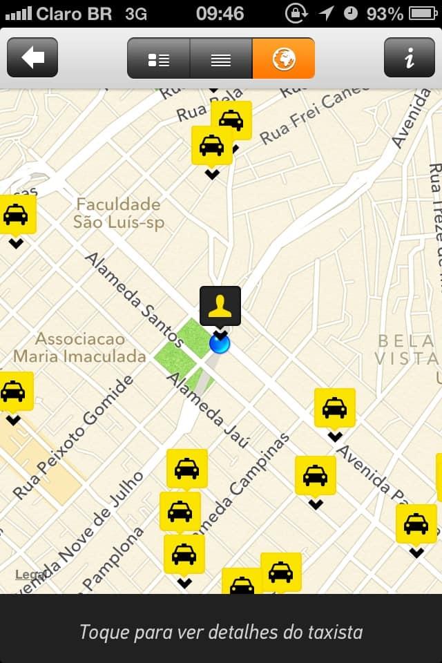 Taxibeat - mapa