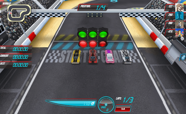 aplicativo race track rivals para facebook