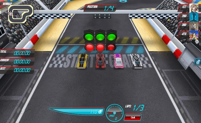 aplicativo race track rivals para facebook