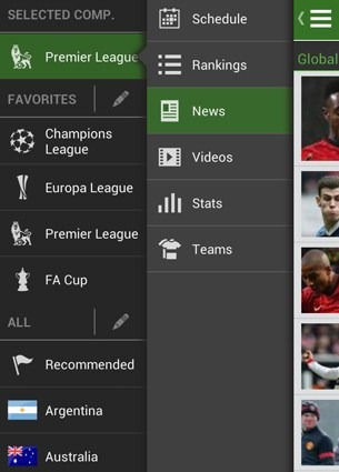 The Football App para iPad