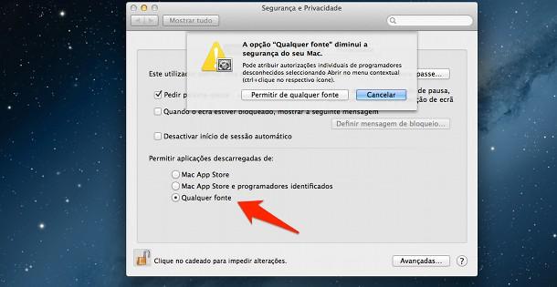 transferir aplicativos no Mac