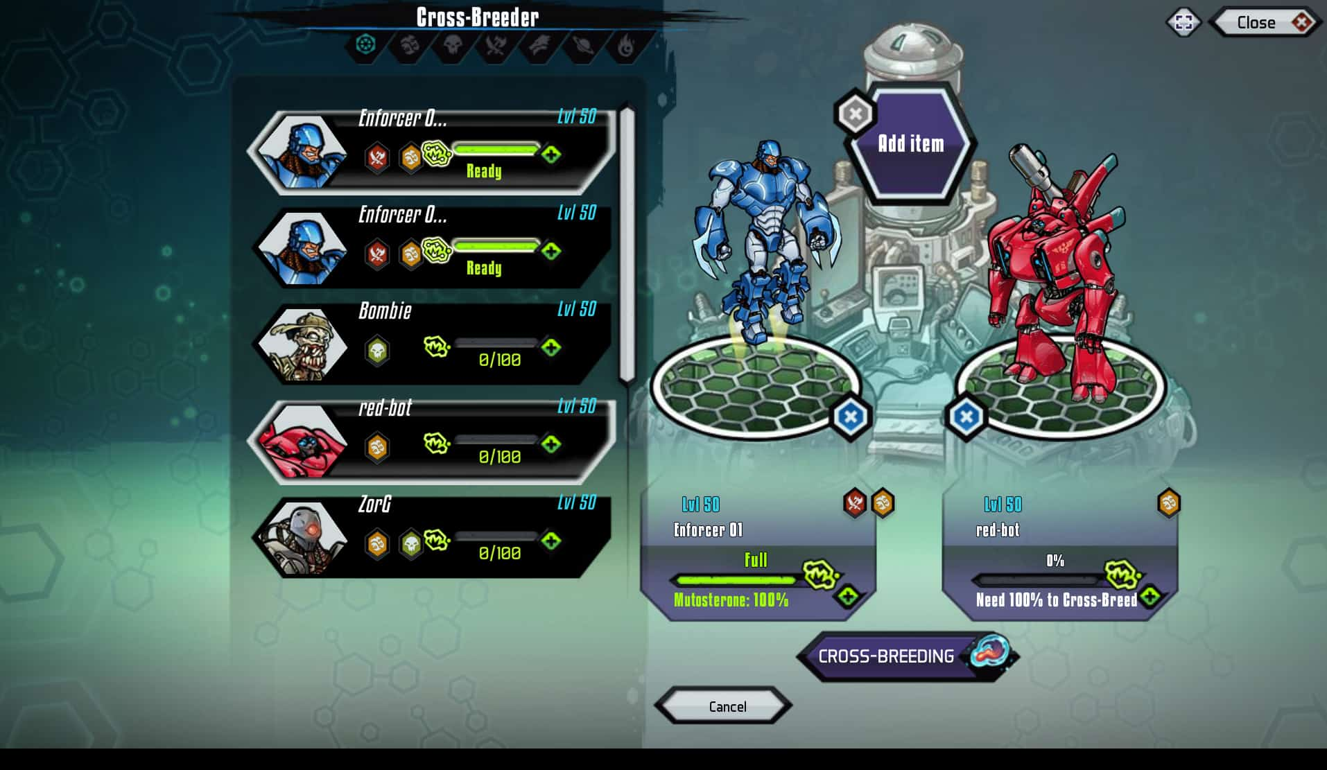 Mutants: Genetic Gladiators para Facebook