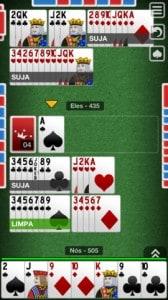 Buraco Jogatina - jogo com quatro jogadores no iPhone