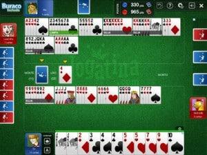 Buraco Jogatina - jogando com quatro jogadores no iPad