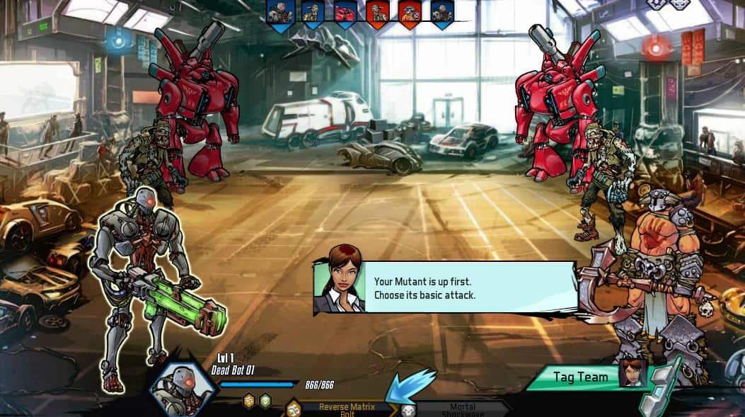 Mutants: Genetic Gladiators como jogar