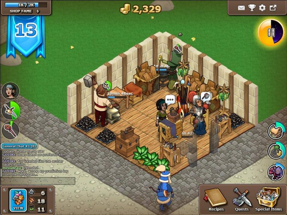 Swords and Potions 2 dicas de jogo