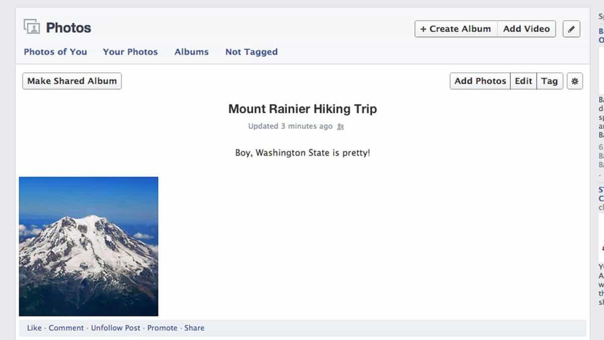 como criar um álbum de compartilhamento no facebook 2
