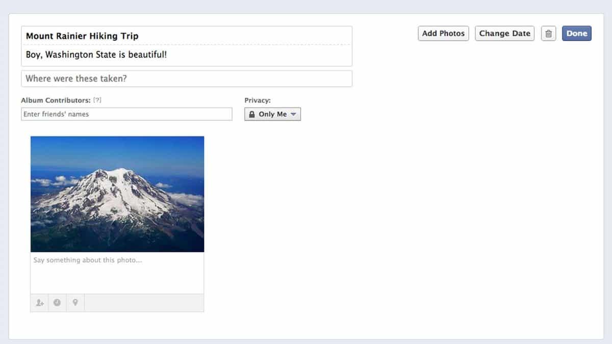 como criar um álbum de compartilhamento do facebook 4