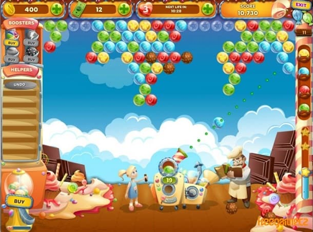 Candy Bubble Rush dicas de jogo