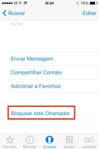 bloquear usuário no iOS 7