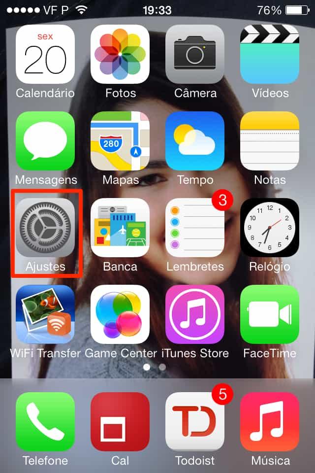 iOS 7 ajustes