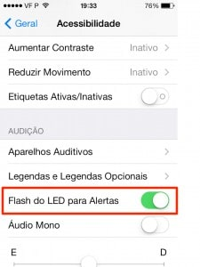 ligar as LED no iOS 7
