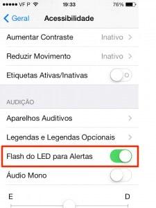 ligar as LED no iOS 7