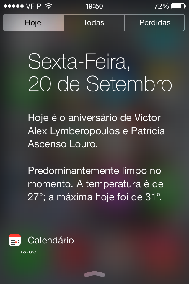 iOS 7 resumo do dia