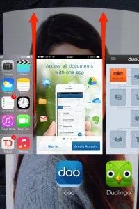 fechar atualizações no iOS 7