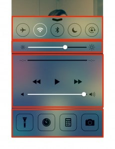 Control Center no iOS 7