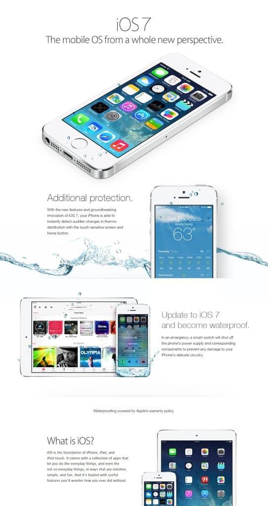 anuncio falso do iPhone