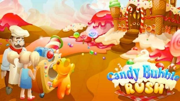 Candy Bubble Rush como jogar