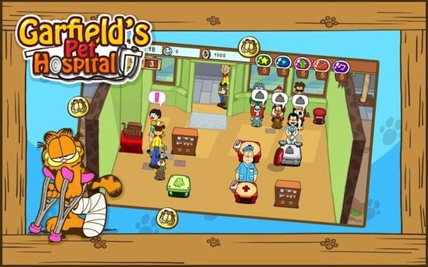 Garfield's Pet Hospital como jogar