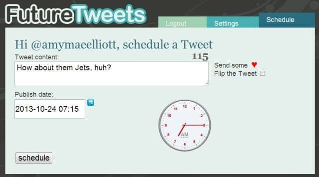 programar Tweets futuretweets