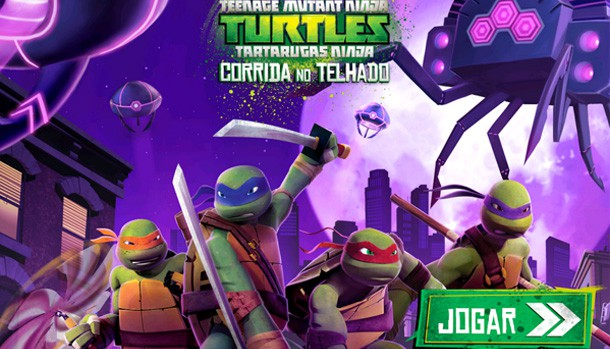 Resultado de imagem para tartarugas ninja corrida no telhado