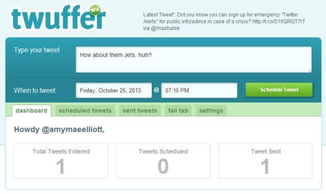 programar Tweets twuffer