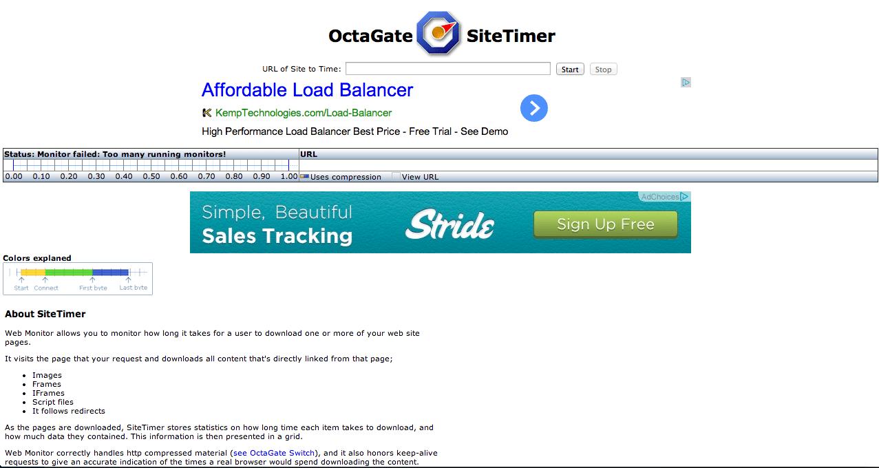 verificar a velocidade Octagate