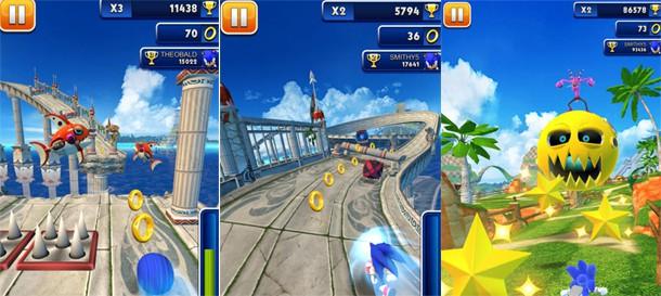 Sonic Dash como jogar