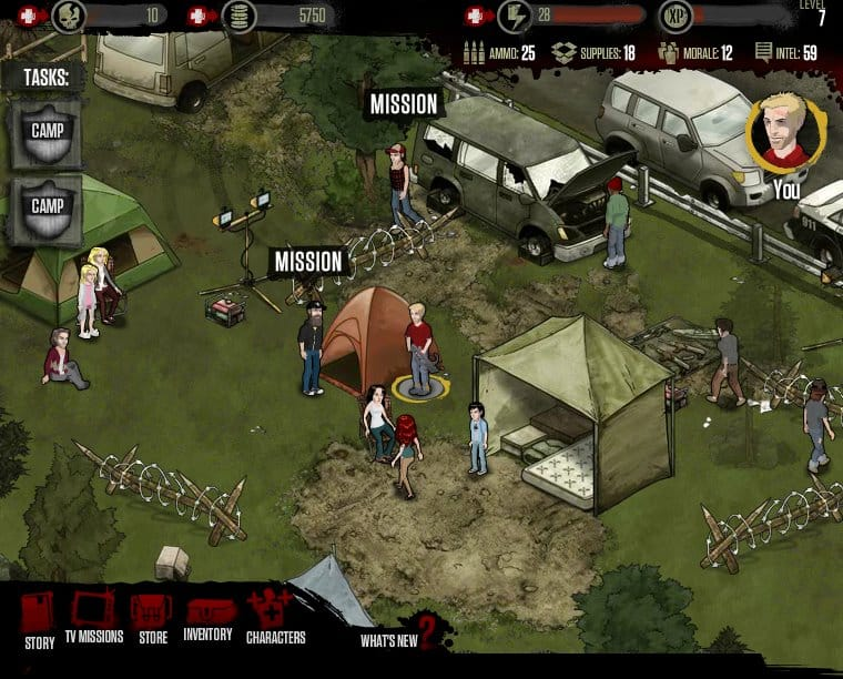 AMC The Walking Dead Social Game para Facebook