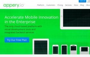 criar aplicativos móveis Appery.io