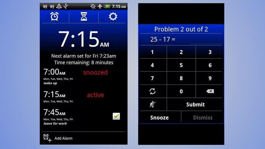 Galaxy S3 alarm clock xtreme