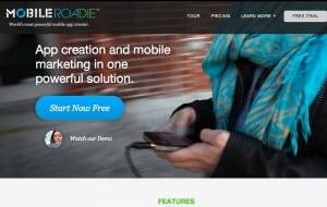 criar aplicativos móveis MobileRoadie