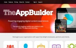 criar aplicativos móveis TheAppBuilder