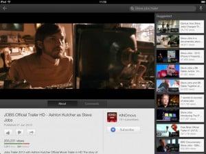 ver filmes no iPad youtube