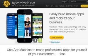 criar aplicativos móveis AppMachine