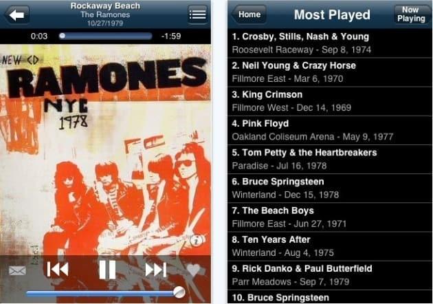 aplicativos de música para o iPhone concert vault