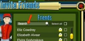 convidar amigos em blazing silks