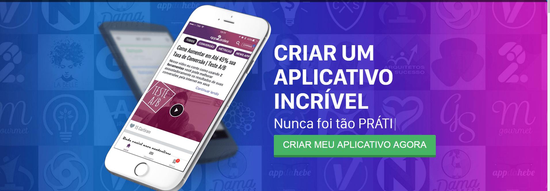 criar aplicativos móveis app2sales