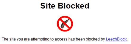 distrações online leechblock