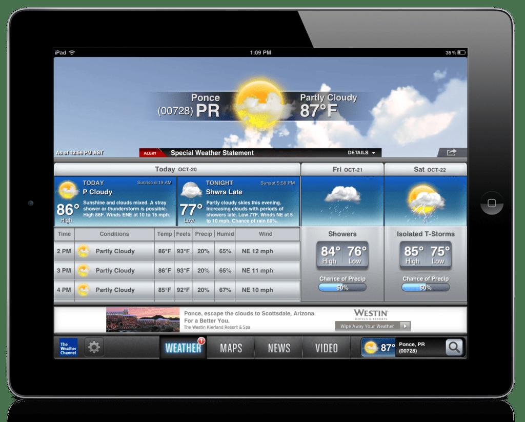aplicativos para iPad the weather channel