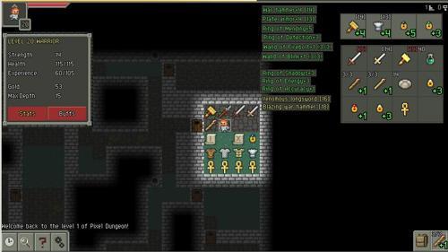 Pixel Dungeon como jogar