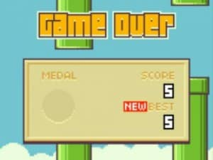 flappy bird fora do ar por ser jogo viciante