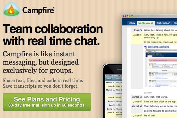 Campfire para comunicação