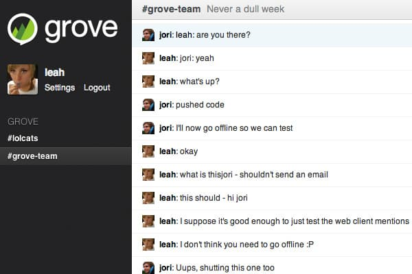 ferramentas de chat Grove