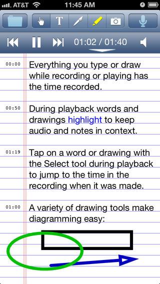 AudioNote para gravar notas e voz no iPhone