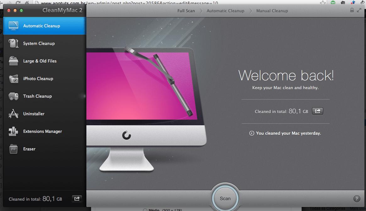 aplicativo Clean My Mac